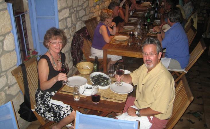 Dinner at Luna, Hvar