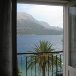 View from our room in Korcula