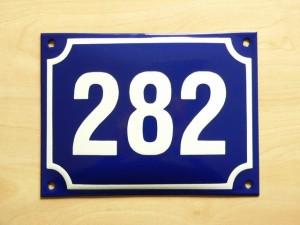 Czech Enamel House Number