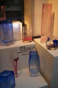 Moser crystal vases