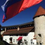 Bled Castle Slovenian Flag
