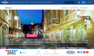 Lonely Planet Awards 2015 Lithuania