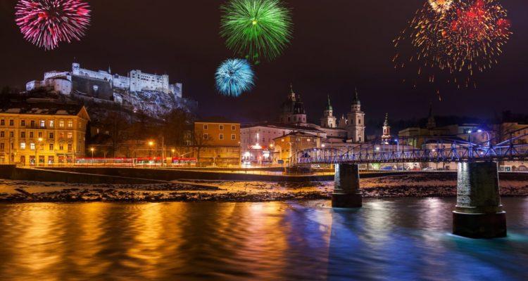 Fireworks in Salzburg Austria