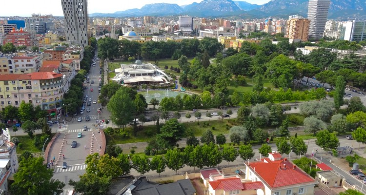 Tirana, from Sky Bar