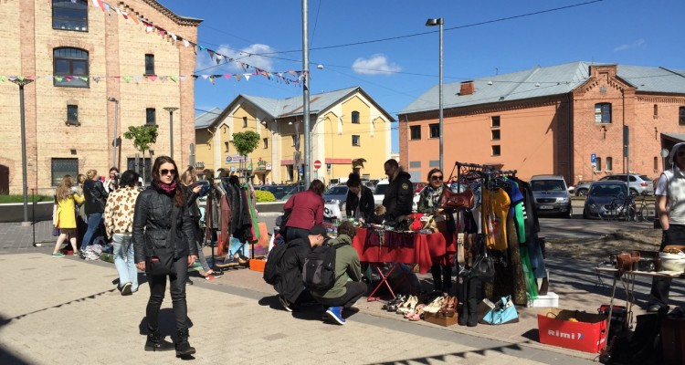 Flea market in the Creative Quarter