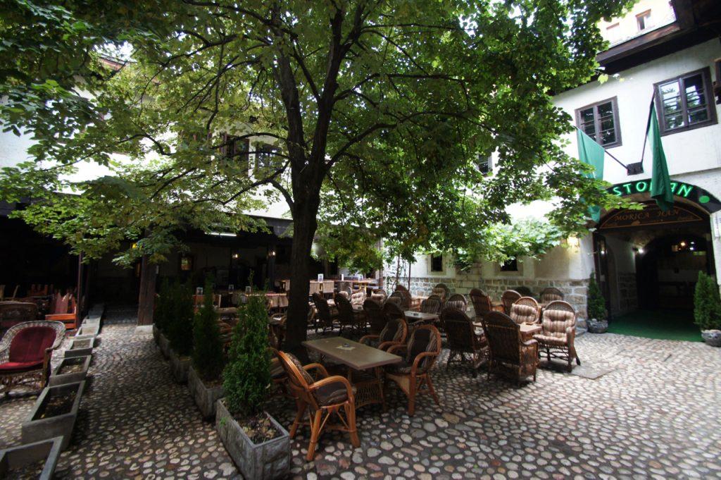Restaurant courtyard in the Sarajevo bazaar