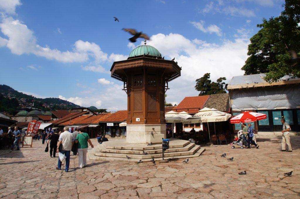 Sebilj water fountain in Sarajevo