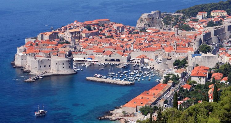 Dubrovnik old city view from east