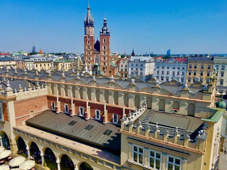 Krakow's Cloth Hall and St. Mary's