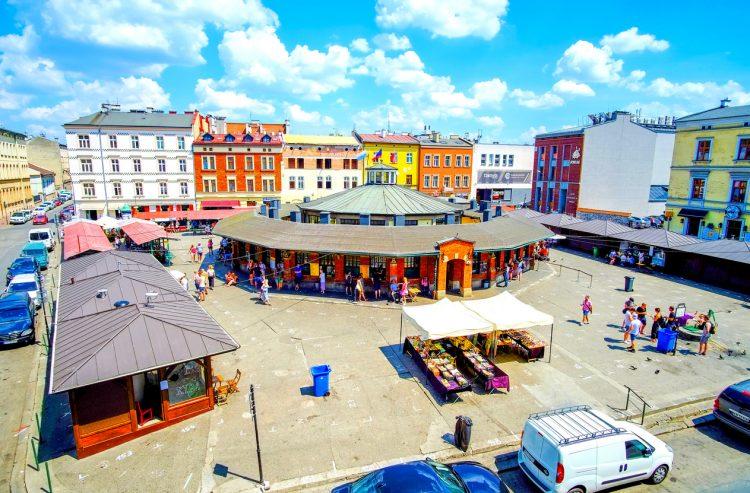 The central square in Kazimierz district, Krakow, Poland