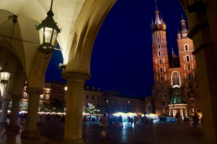 St. Mary's From Rynek Glowny's Cloth Hall