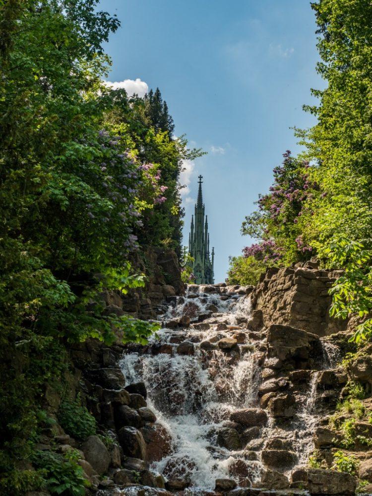waterfall in Viktoria park in kreuzberg