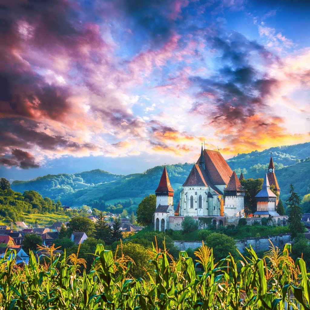 Biertan Fortified Church on an especially ethereal day