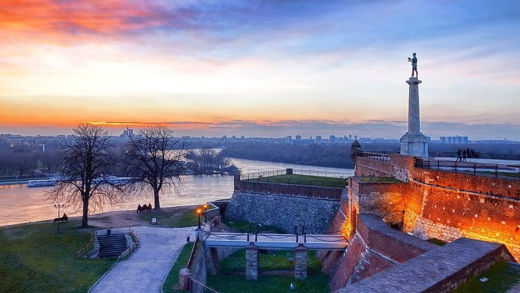 Belgrade Fortres Sunset
