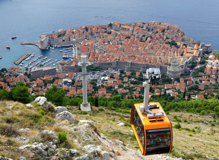 Dubrovnik viewed from Mt. Srd
