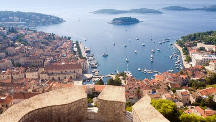 View of Hvar and Pakleni Islands from the fortress