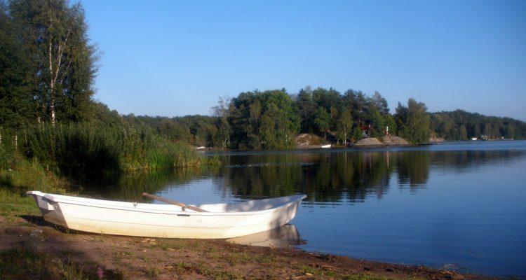An island on a lake on an island in Finland's Archipelago Sea, near the presidential palace.