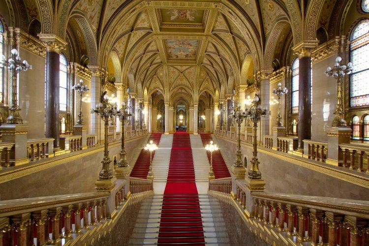 Parliament grand stairway