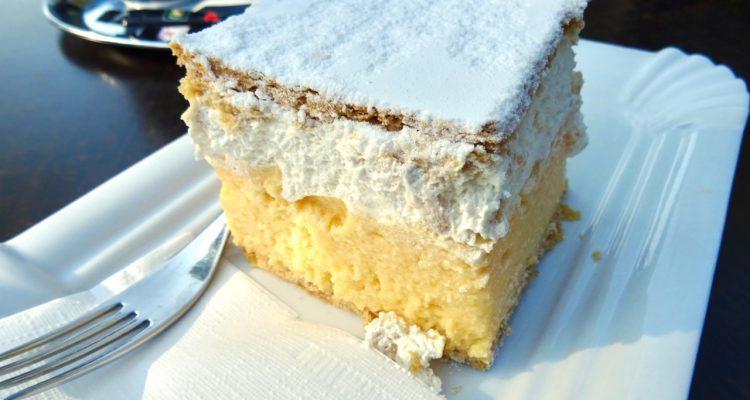 Kremsnita Cake at Lake Bled