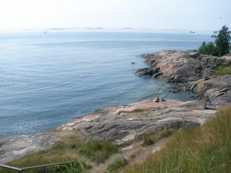 Helsinki's coast as seen from Suomenlinna.
