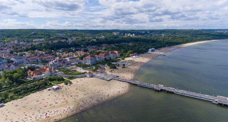 Baltic Coast at Sopot Poland