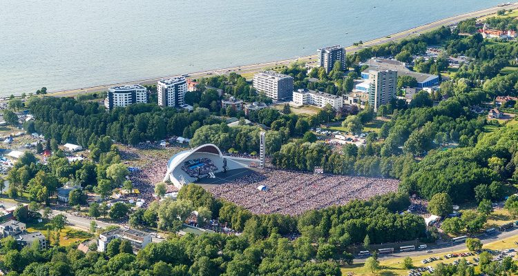 Dance Festival Aerial View