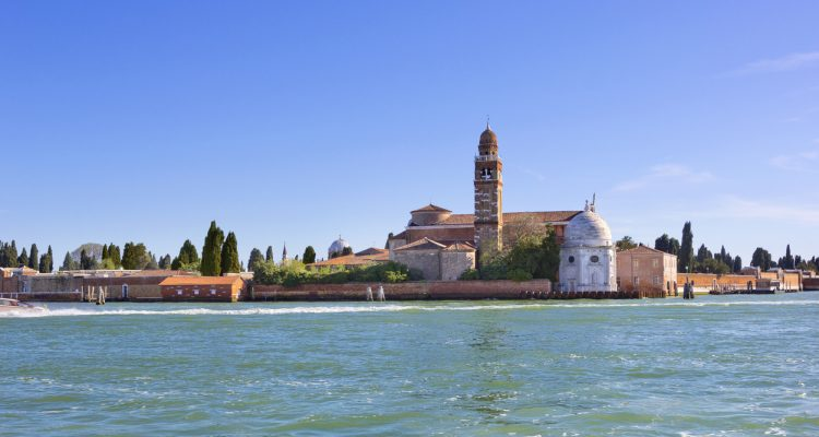 Cemetery island with church di San Michele in Isola in Venice, Italy