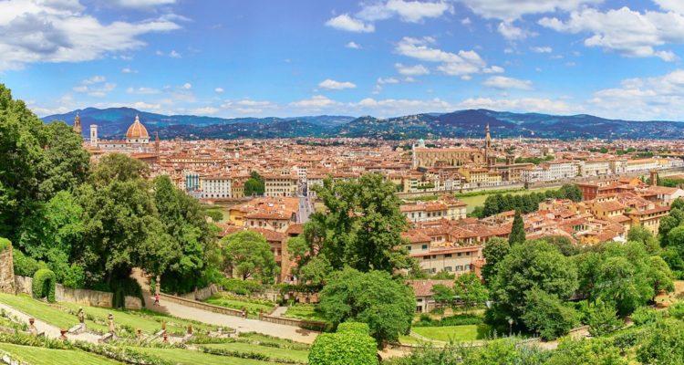 """Seen from the """"Bardini Gardens"""", Tuscany, Italy"""