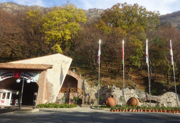 The entrance to a large Kakheti wine cellar