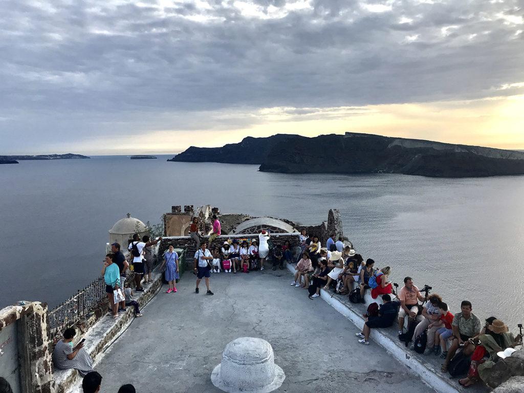Waiting for sunset on Santorini