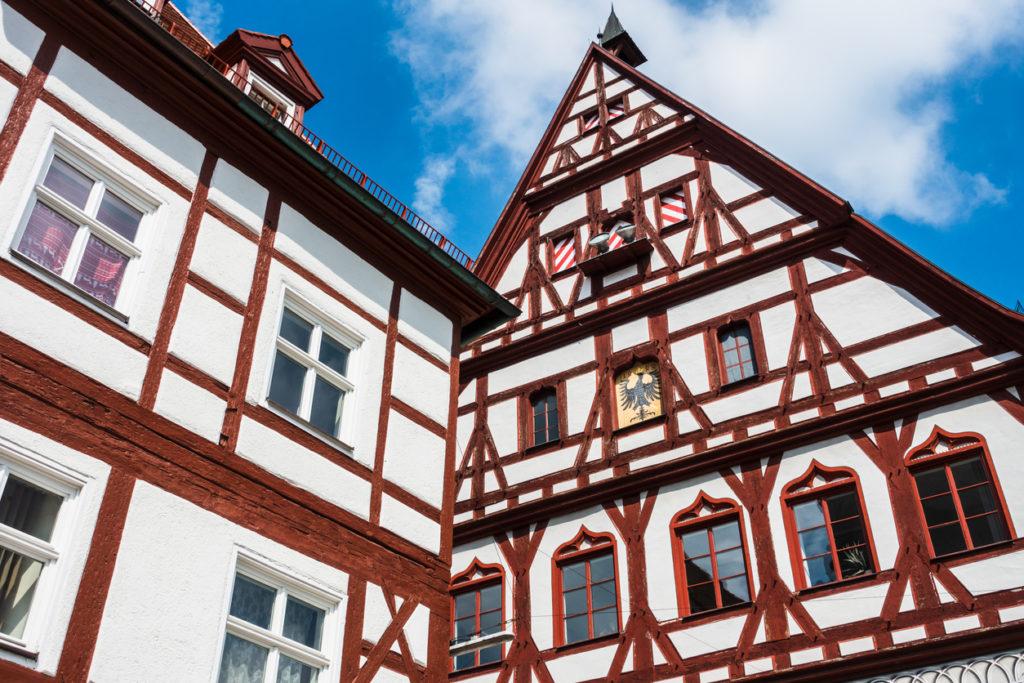 Half-timbered homes in Dinkelsbühl