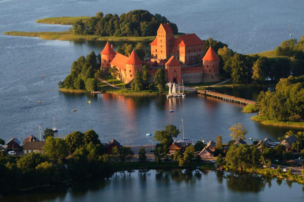 Trakai village and castle