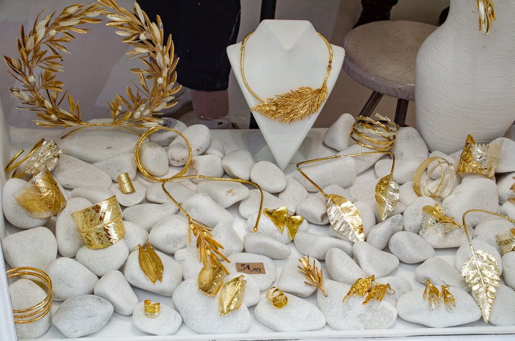 Greek jewelry souvenirs