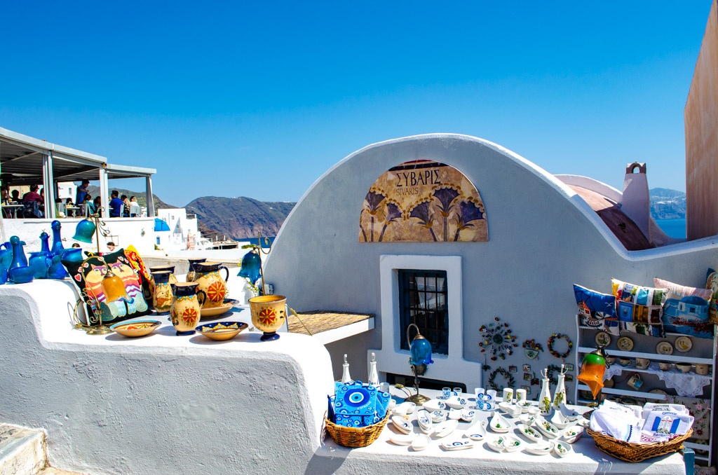 Souvenirs for sale in Greece